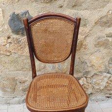 Antigüedades: SILLA DE MADERA Y MIMBRE FIRMA THONET. Lote 175777428