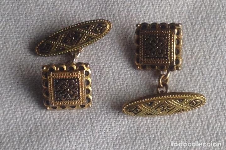 Antigüedades: ANTIGUOS GEMELOS CON CAJITA - Foto 2 - 182662895