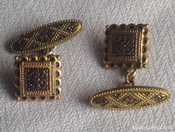 Antigüedades: ANTIGUOS GEMELOS CON CAJITA - Foto 3 - 182662895
