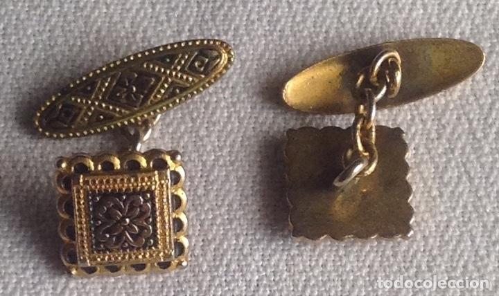 Antigüedades: ANTIGUOS GEMELOS CON CAJITA - Foto 4 - 182662895