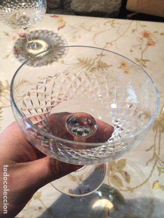 Antigüedades: Antiguas 3 copa / copas de coctel de cristal prensado años 60-70 - Foto 4 - 175791752