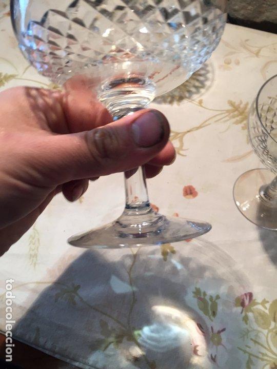 Antigüedades: Antiguas 3 copa / copas de coctel de cristal prensado años 60-70 - Foto 7 - 175791752