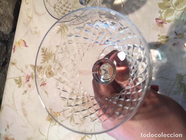 Antigüedades: Antiguas 3 copa / copas de coctel de cristal prensado años 60-70 - Foto 9 - 175791752