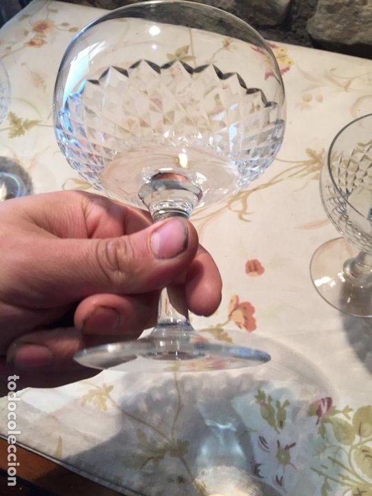 Antigüedades: Antiguas 3 copa / copas de coctel de cristal prensado años 60-70 - Foto 10 - 175791752