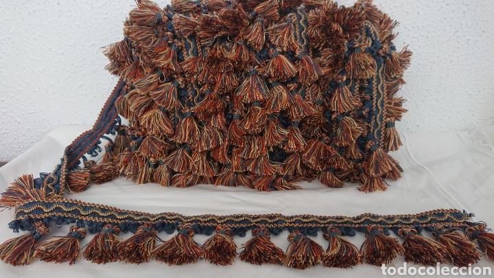 Antigüedades: HERMOSA PASAMANERÍA CON BORLAS 19 METROS - Foto 2 - 175792779