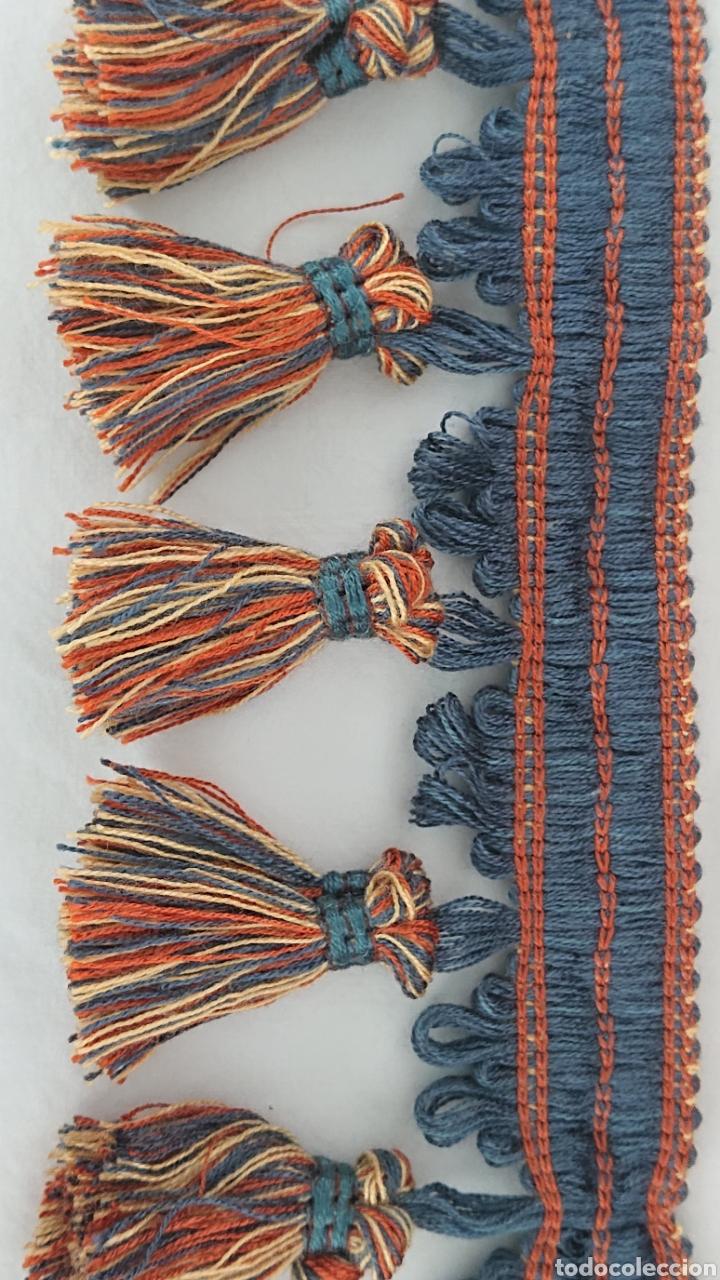 Antigüedades: HERMOSA PASAMANERÍA CON BORLAS 19 METROS - Foto 3 - 175792779