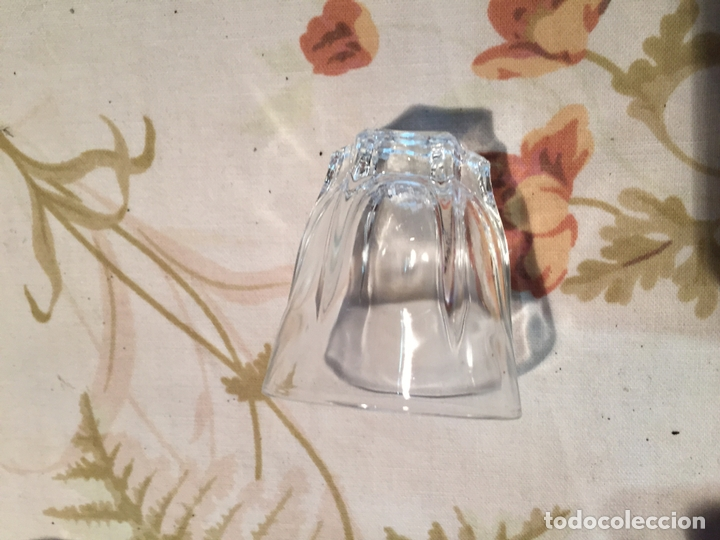 Antigüedades: Antiguas 4 vaso / vasos de licor o chupito de cristal prensado años 50-60 - Foto 7 - 175793225