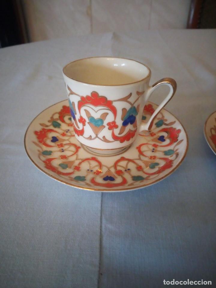 Antigüedades: Precioso tu y yo de porcelana kutahya gural porselen,turquia,pintado a mano - Foto 2 - 175803150