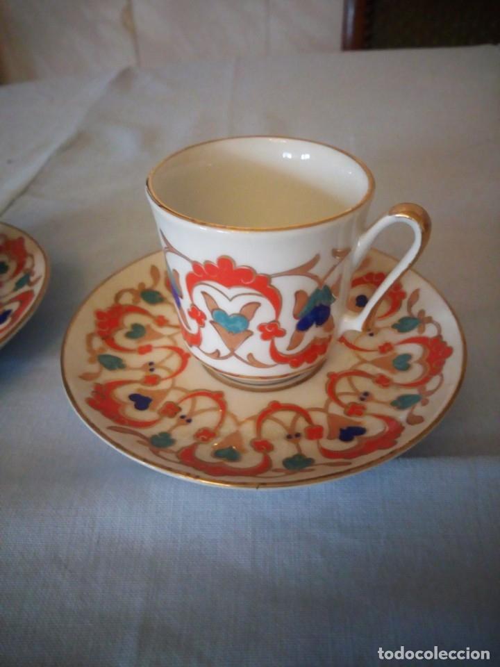 Antigüedades: Precioso tu y yo de porcelana kutahya gural porselen,turquia,pintado a mano - Foto 3 - 175803150