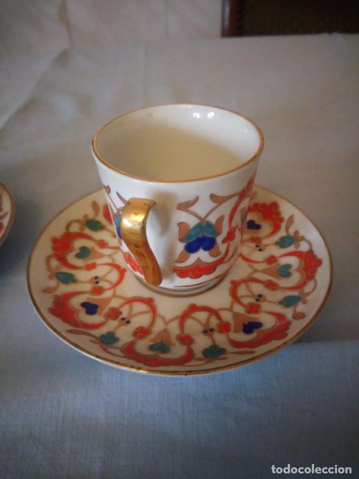 Antigüedades: Precioso tu y yo de porcelana kutahya gural porselen,turquia,pintado a mano - Foto 4 - 175803150