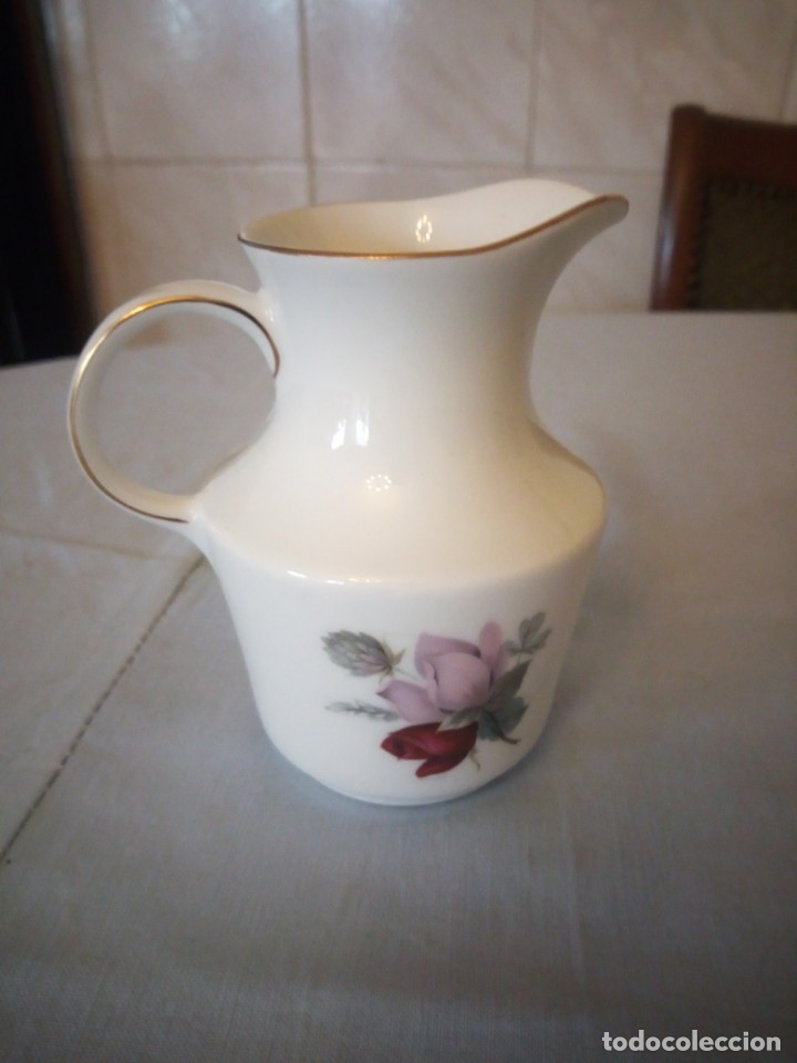 Antigüedades: Bonita lechera de porcelana pmr bavaria JAEGER & CO germany,1949 - Foto 3 - 175805570