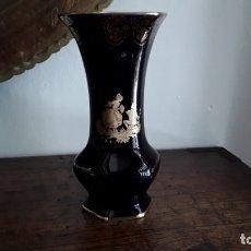 Antigüedades: JARRÓN PORCELANA LIMOGES ORO. Lote 175808117