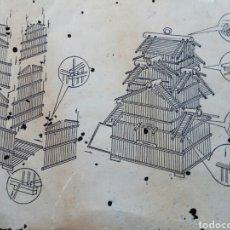 Antigüedades: JAULA PÁJAROS 3 PISOS DESMONTADA SIN ESTRENAR. Lote 175811375