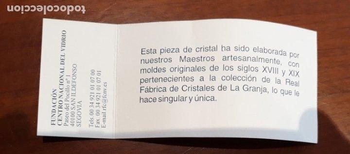 Antigüedades: Estuche con 6 vasos y una frasca de la Real Fábrica de Cristales de La Granja - Foto 5 - 175814169