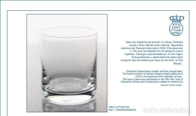 Antigüedades: Estuche con 6 vasos y una frasca de la Real Fábrica de Cristales de La Granja - Foto 7 - 175814169