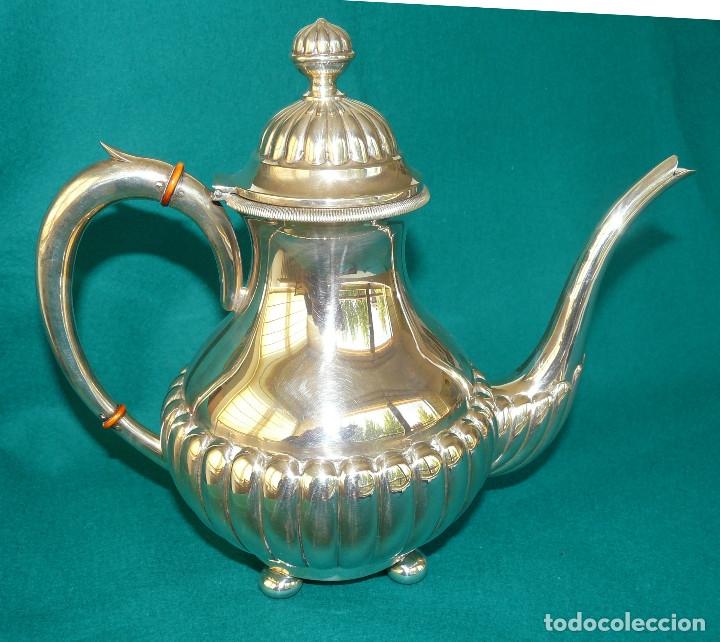 Antigüedades: Juego de merienda (té y café) en plata de ley - Foto 3 - 175820555