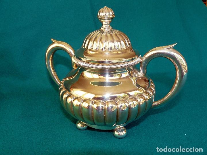 Antigüedades: Juego de merienda (té y café) en plata de ley - Foto 6 - 175820555