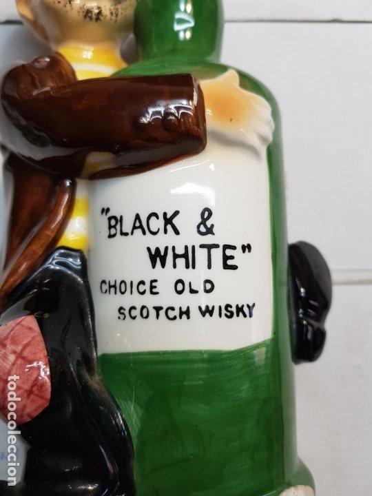 Antigüedades: Botella Publicidad Black & White musical escasa - Foto 5 - 175821655