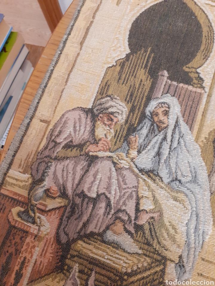 Antigüedades: Dos magníficos antiguos tapices. Motivos moriscos. 51 X 51 cms - Foto 9 - 175824997