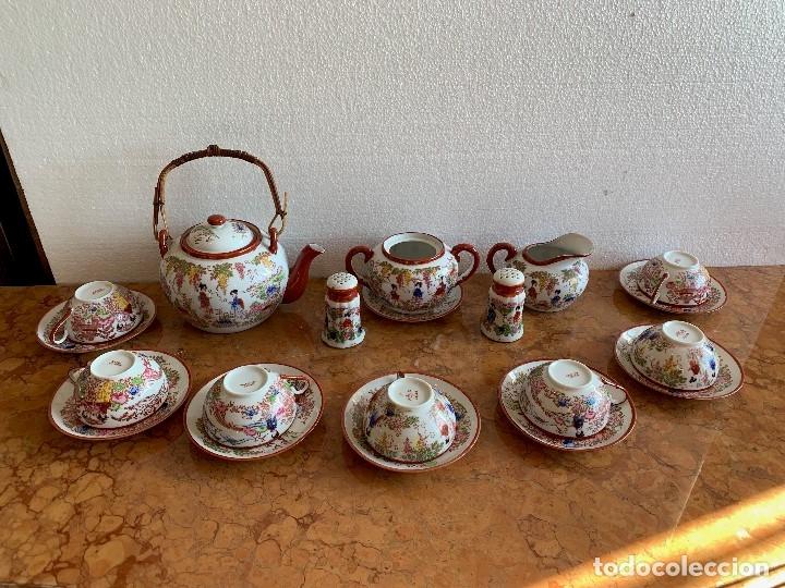 JUEGO DE CAFE PORCELANA JAPONESA DE 20 PIEZAS (Antigüedades - Porcelana y Cerámica - Japón)