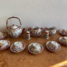 Antigüedades: JUEGO DE CAFE PORCELANA JAPONESA DE 20 PIEZAS. Lote 175834200