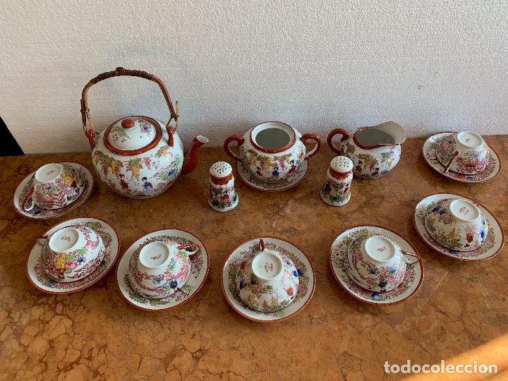 Antigüedades: JUEGO DE CAFE PORCELANA JAPONESA DE 20 PIEZAS - Foto 2 - 175834200