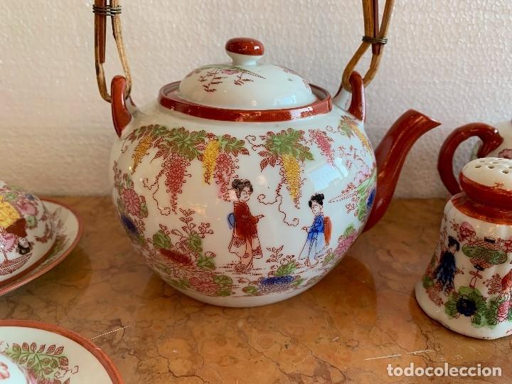 Antigüedades: JUEGO DE CAFE PORCELANA JAPONESA DE 20 PIEZAS - Foto 6 - 175834200