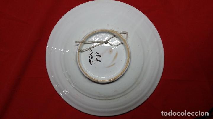 Antigüedades: plato de ceràmica triana pintado a mano - Foto 2 - 175836697