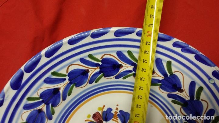 Antigüedades: plato de ceràmica triana pintado a mano - Foto 3 - 175836697