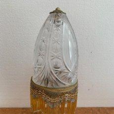 Antigüedades: LAMPARA DE SOBREMESA CRISTAL TALLADO. Lote 175838719