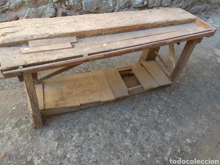 Antigüedades: Banco de trabajo de madera para restaurar - Foto 2 - 175840153