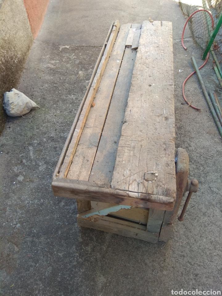 Antigüedades: Banco de trabajo de madera para restaurar - Foto 3 - 175840153