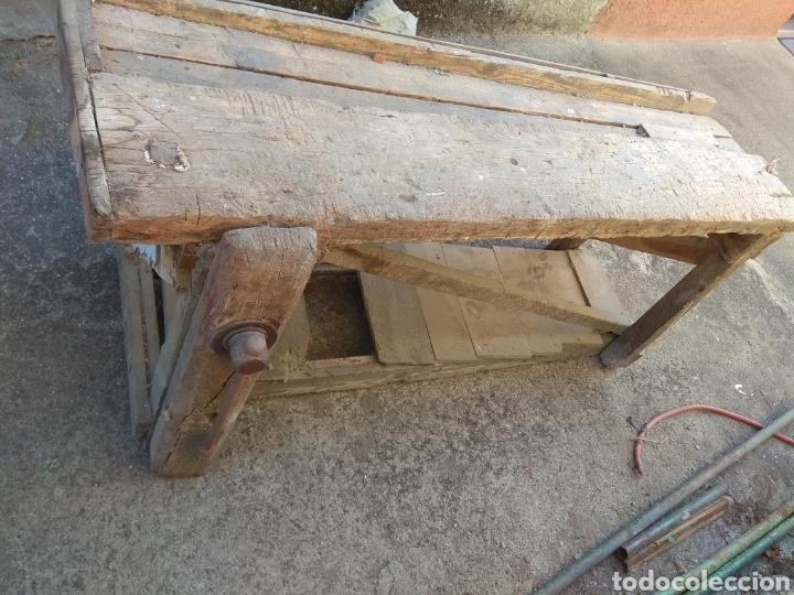 Antigüedades: Banco de trabajo de madera para restaurar - Foto 4 - 175840153