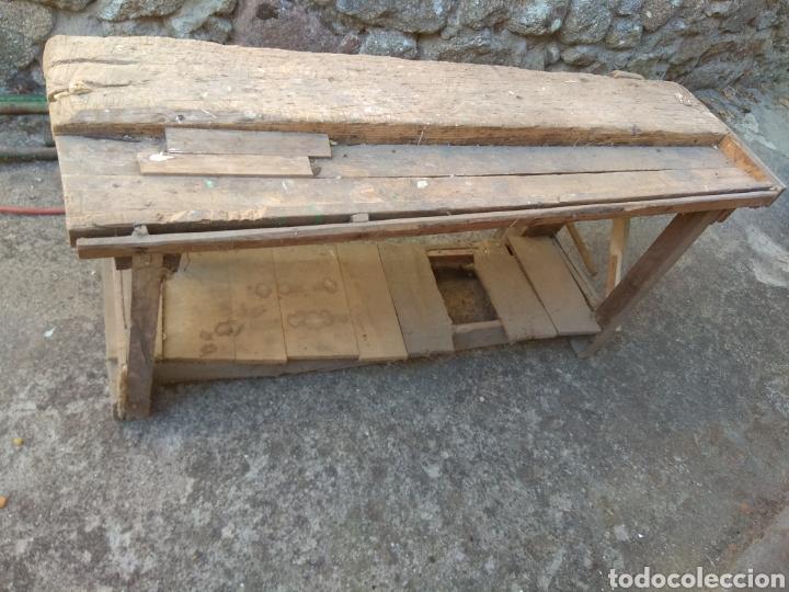 BANCO DE TRABAJO DE MADERA PARA RESTAURAR (Antigüedades - Técnicas - Rústicas - Utensilios del Hogar)