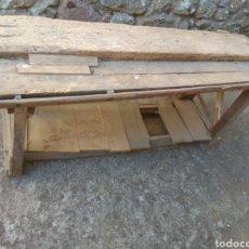 Antigüedades: BANCO DE TRABAJO DE MADERA PARA RESTAURAR. Lote 175840153