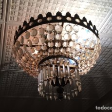 Antigüedades: LAMPARA DE LAGRIMAS DE CRISTAL. Lote 175841080