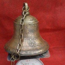 Antigüedades: CAMPANA GRANDES DIMENSIONES .HIERRO. Lote 175844687