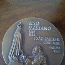 Antigüedades: MEDALLA JUAN PABLO II, AÑO MARIANO FÁTIMA. 70º ANIVERSARIO APARICIONES. NUMERADA.. Lote 175844790