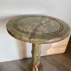 Antigüedades: MESA AUXILIAR EN ALABASTRO. Lote 175861730