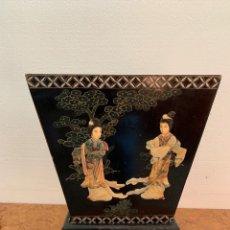 Antigüedades: MACETERO CHINO RELIEVES. Lote 175862245