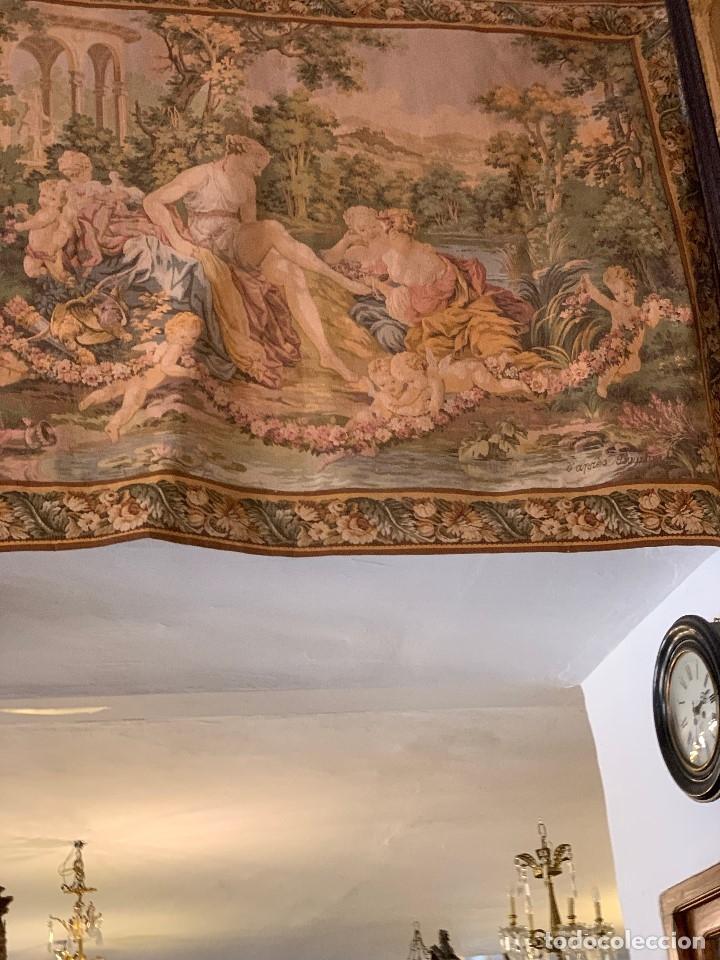 Antigüedades: ANTIGUO TAPIZ BOUCHER DE PARIS REF-T309 - Foto 5 - 175893059