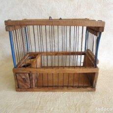 Antigüedades: ANTIGUA JAULA PARA JILGUERO RESTAURADA. Lote 175895010