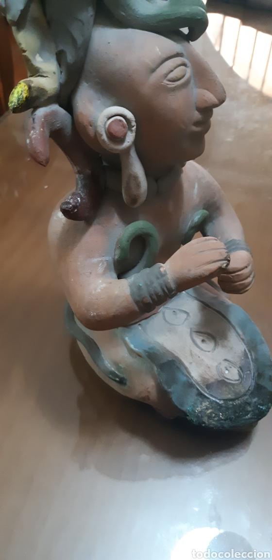 Antigüedades: Figura en terracota guerrero maya - Foto 9 - 175907482