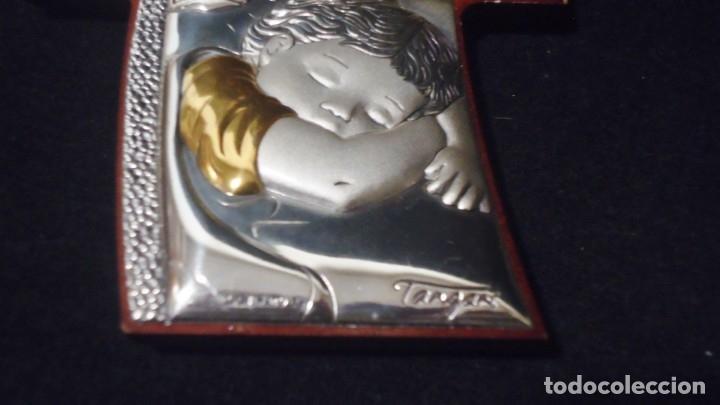 Antigüedades: Precioso crucifijo lamina de plata con firma Tangan - Foto 6 - 175910103