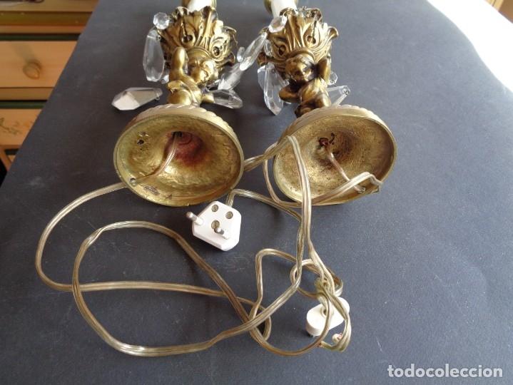 Antigüedades: PAREJA DE LAMPARAS ANTIGUAS DE SOBREMESA - Foto 6 - 175912468
