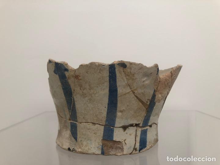Antigüedades: Vasija levantina. Siglo XIV-XV. Precisa restauración. 15x10 cm. - Foto 2 - 175937760