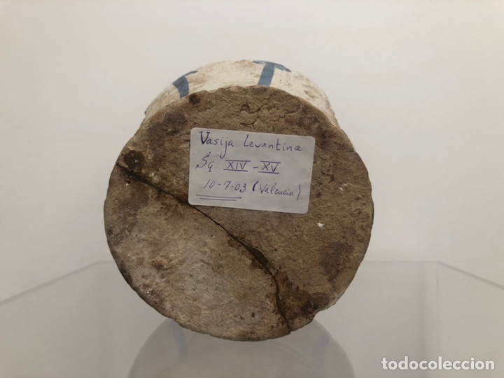 Antigüedades: Vasija levantina. Siglo XIV-XV. Precisa restauración. 15x10 cm. - Foto 5 - 175937760