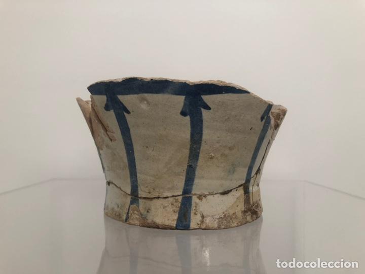 VASIJA LEVANTINA. SIGLO XIV-XV. PRECISA RESTAURACIÓN. 15X10 CM. (Antigüedades - Porcelanas y Cerámicas - Manises)