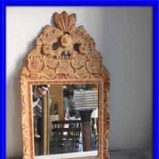 Antigüedades: ESPEJO CORNUCOPIA DE MADERA DORADA ANTIGUO. Lote 175941115