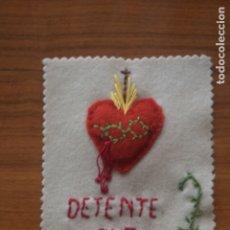 Antigüedades: ESCAPULARIO DETENTE BALA BORDADO . Lote 175941213